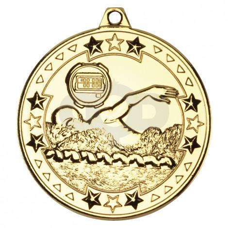 50mm Swimming 'Tri Star' Medal