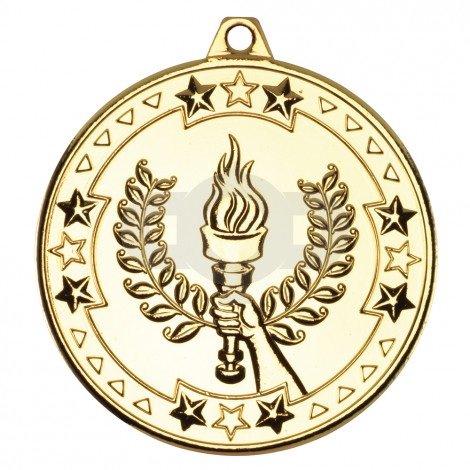 50mm Victory Torch 'Tri Star' Medal