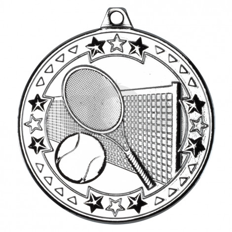 50mm Tennis 'Tri Star' Medal