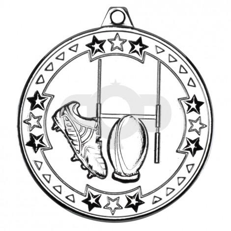 50mm Rugby 'Tri Star' Medal