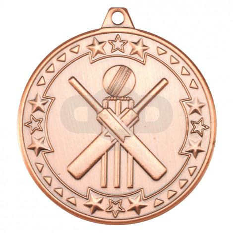 50mm Cricket 'Tri Star' Medal