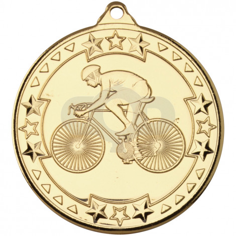 50mm Cycling 'Tri Star' Medal
