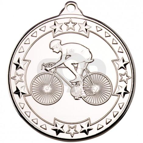 50mm Cycling 'Tri Star' Medal