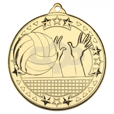 Volleyball 'Tri Star' Medal - Gold