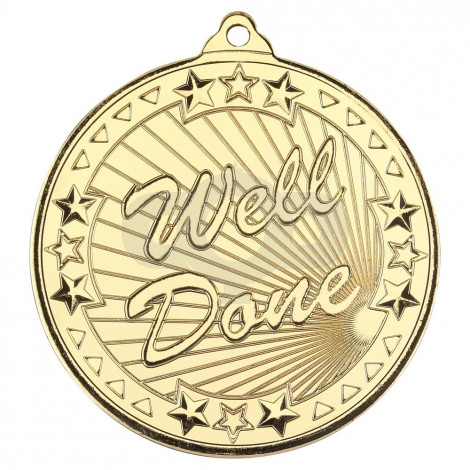 Well Done 'Tri Star' Medal - Gold