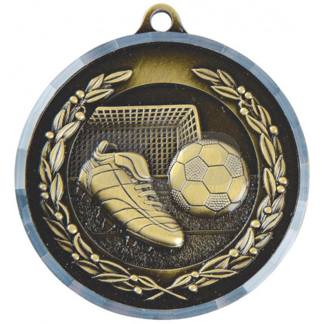 50mm Boot & Ball Football Medal with Diamond Milled Edge