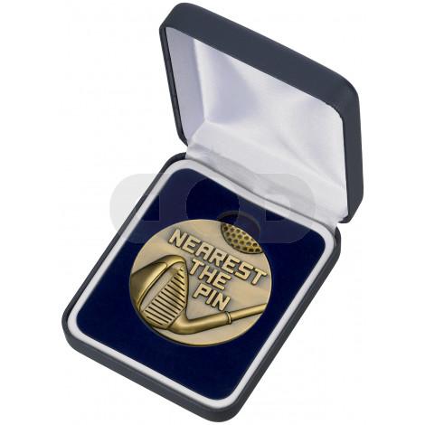 Golf Nearest The Pin Medal & Box