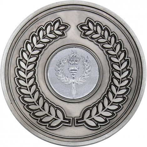 Wreath Medallion Antique Silver