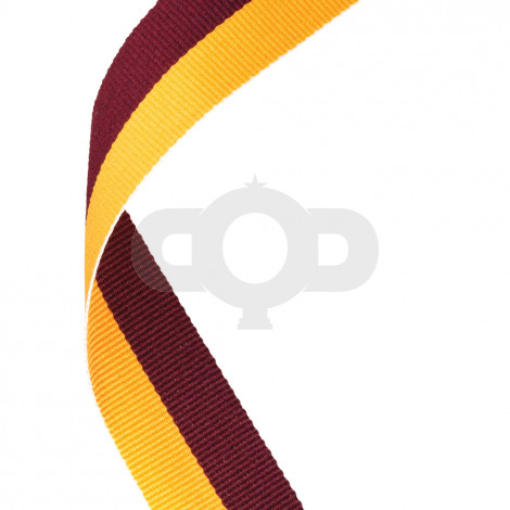 Maroon & Gold Ribbon