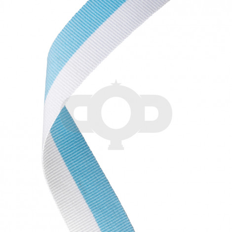 Sky Blue & White Ribbon