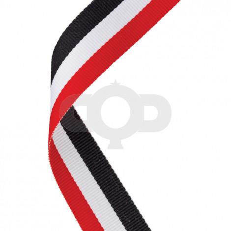 Red, White & Black Ribbon