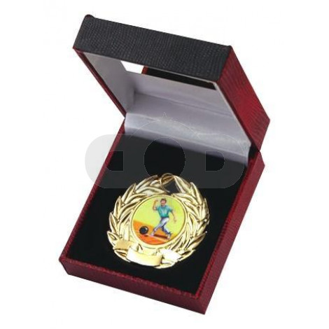 Red Medal Case with Plate