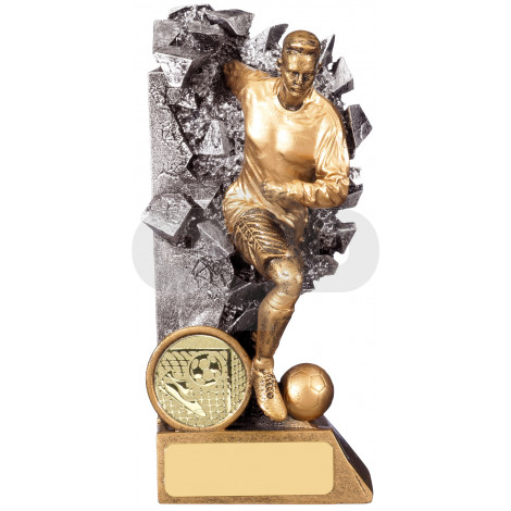 Breakout Male Football Player Trophy