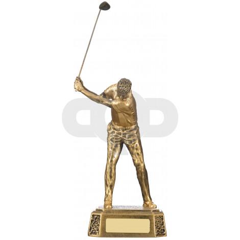 Male Golfer Back Swing