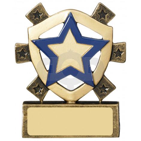 Blue Star Mini Shield Award