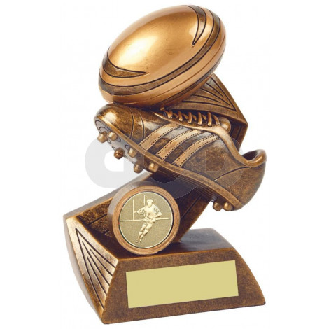 Rugby Boot & Ball Resin Award