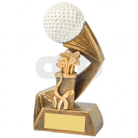 Antique Gold & White Golf Ball Action Award