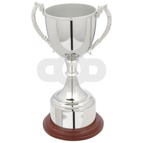 Nickel Plated Trophy Cup with Plinth Band