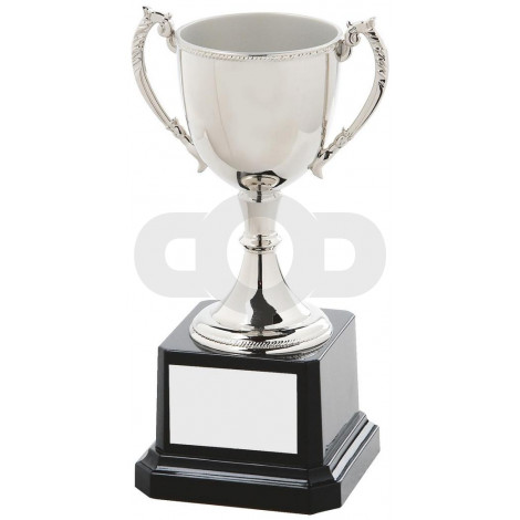 Nickel Plated Presentation Cup with Decorative Lip & Handles