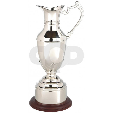 Nickel Plated Claret Jug with Plinth Band