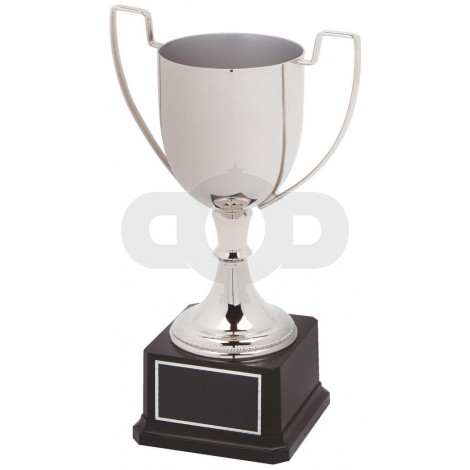 Nickel Plated Presentation Cup on Black Base