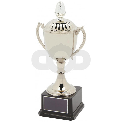 Nickel Plated Presentation Trophy Cup with Lid
