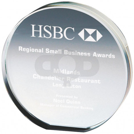 Round Crystal Award