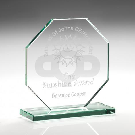 Jade Glass Octagon Plaque