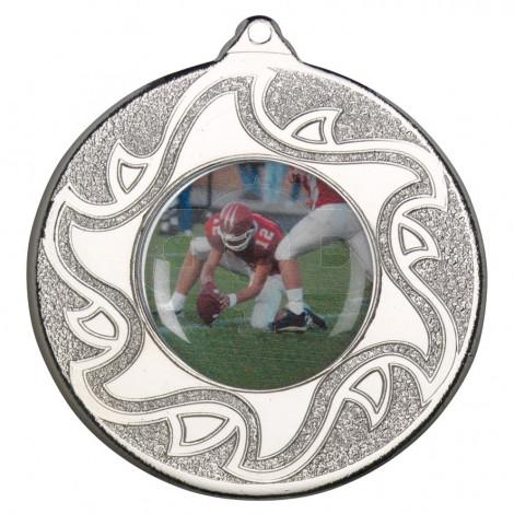 50mm American Football Silver Medal