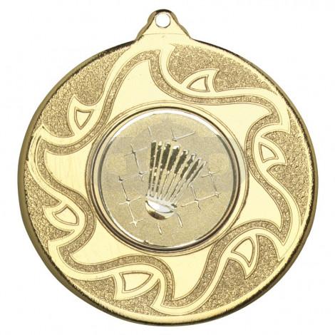 50mm Badminton Medal