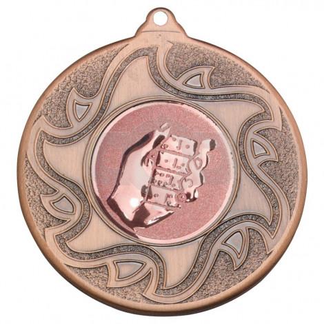50mm Dominoes Bronze Medal