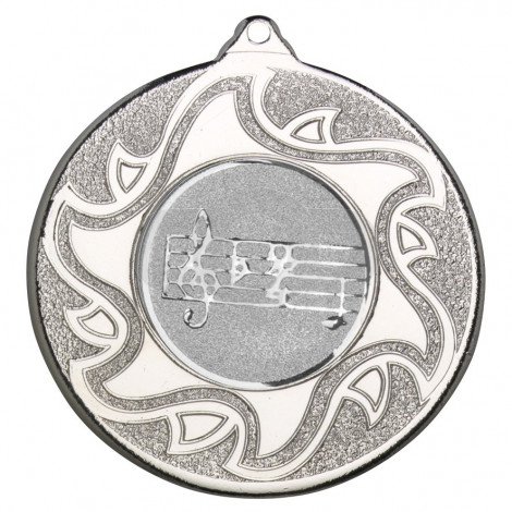 50mm Music Silver Medal