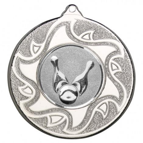 50mm Ten Pin Bowling Silver Medal