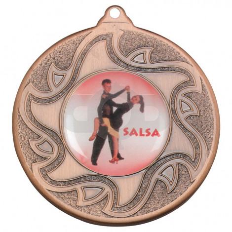 50mm Salsa Dancing Bronze Medal