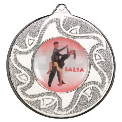 50mm Salsa Dancing Silver Medal