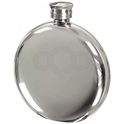 Round Pewter 6oz Hip Flask