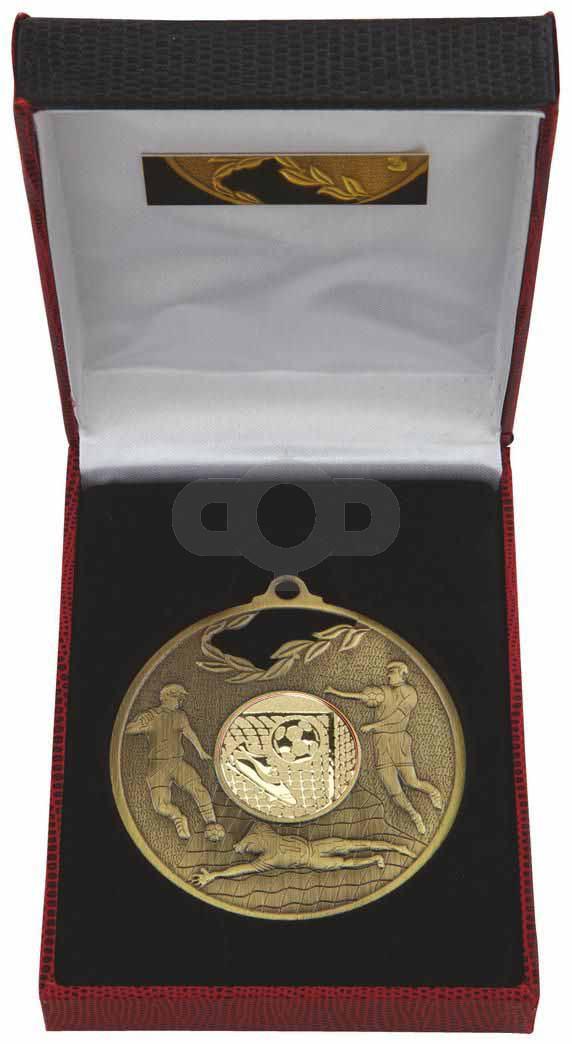 70mm Football Medal in Case