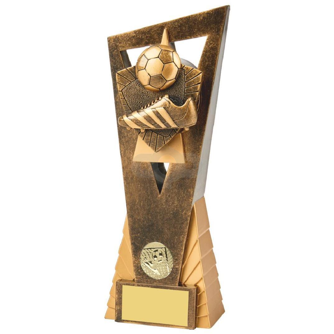 Antique Gold Boot & Ball Football Edge Trophy