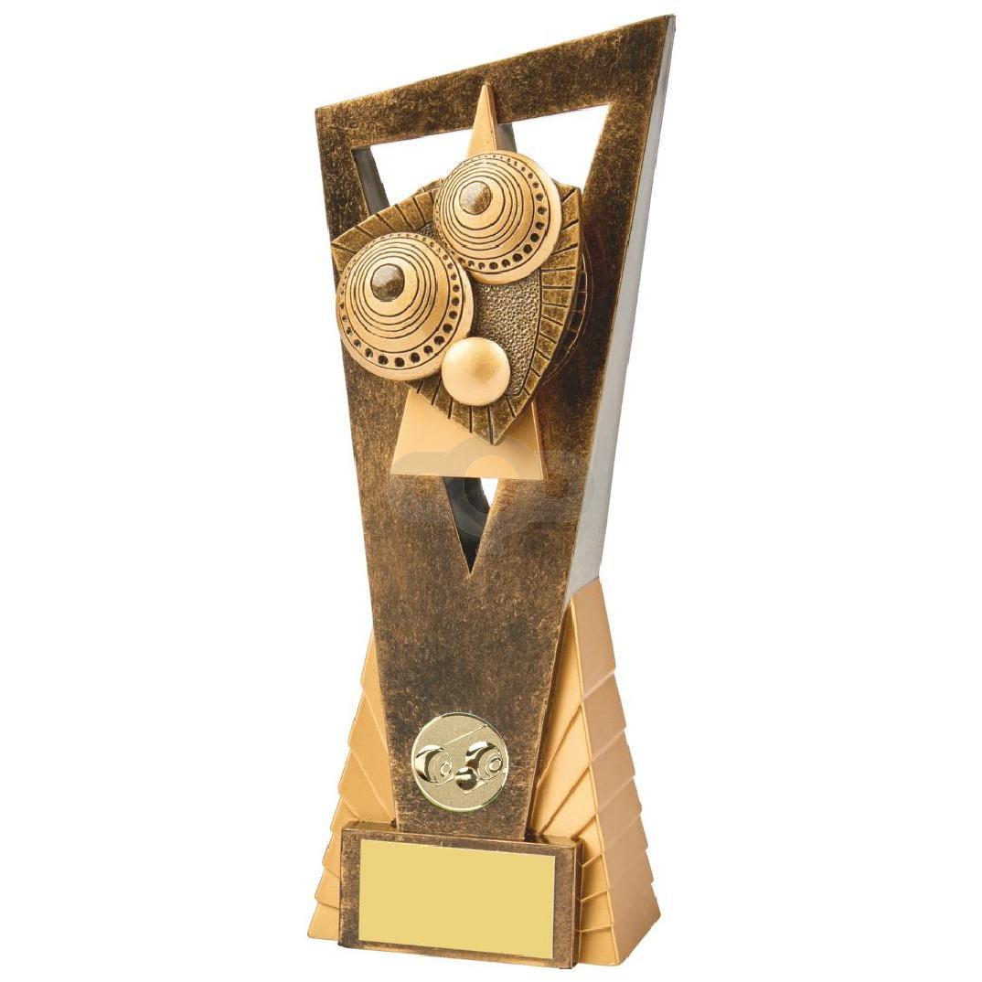 Antique Gold Lawn Bowls Edge Resin Award