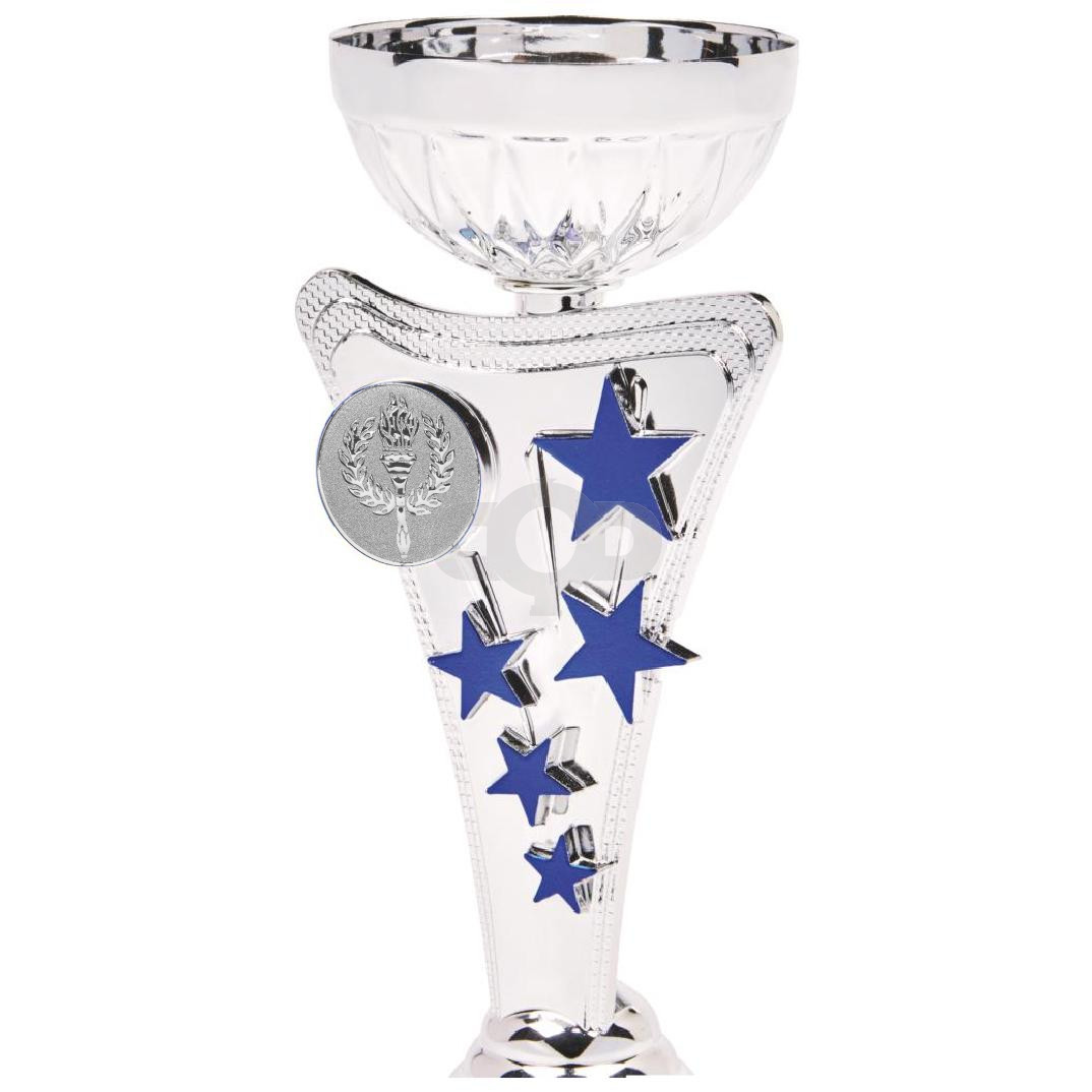 Silver & Blue Star Trophy Cup