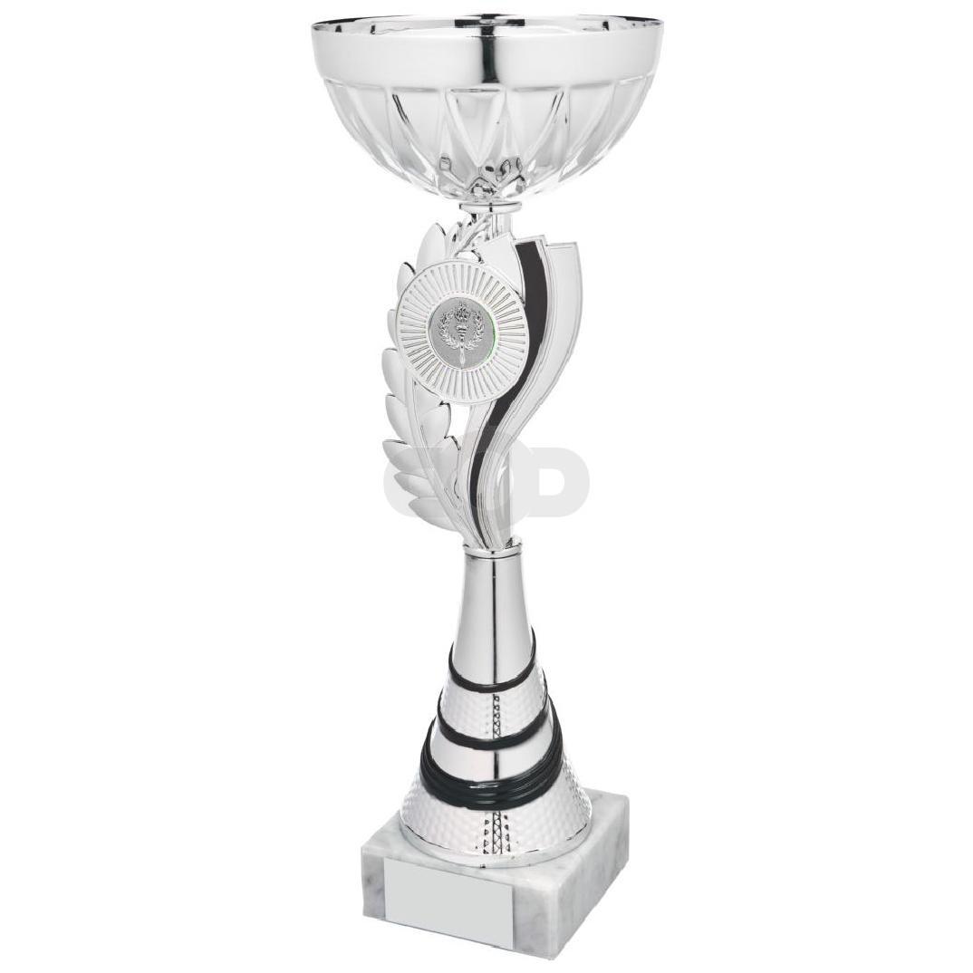 Silver & Black Wreath Cup Award