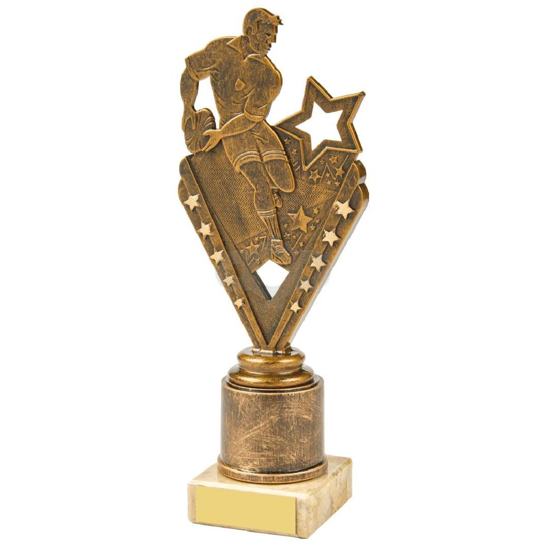 Antique Gold Male Rugby Holder Trophy
