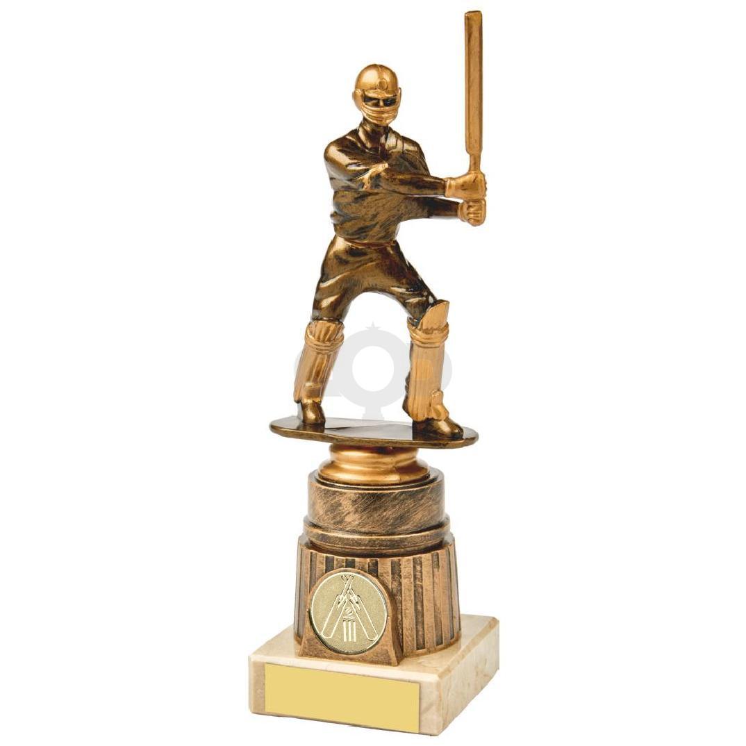 Antique Gold Cricket Batsman Award