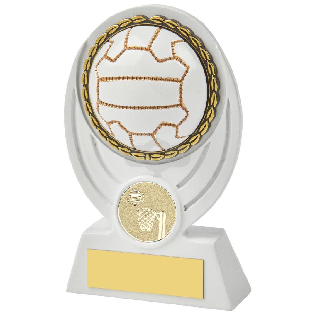 White Netball Ball Resin Award