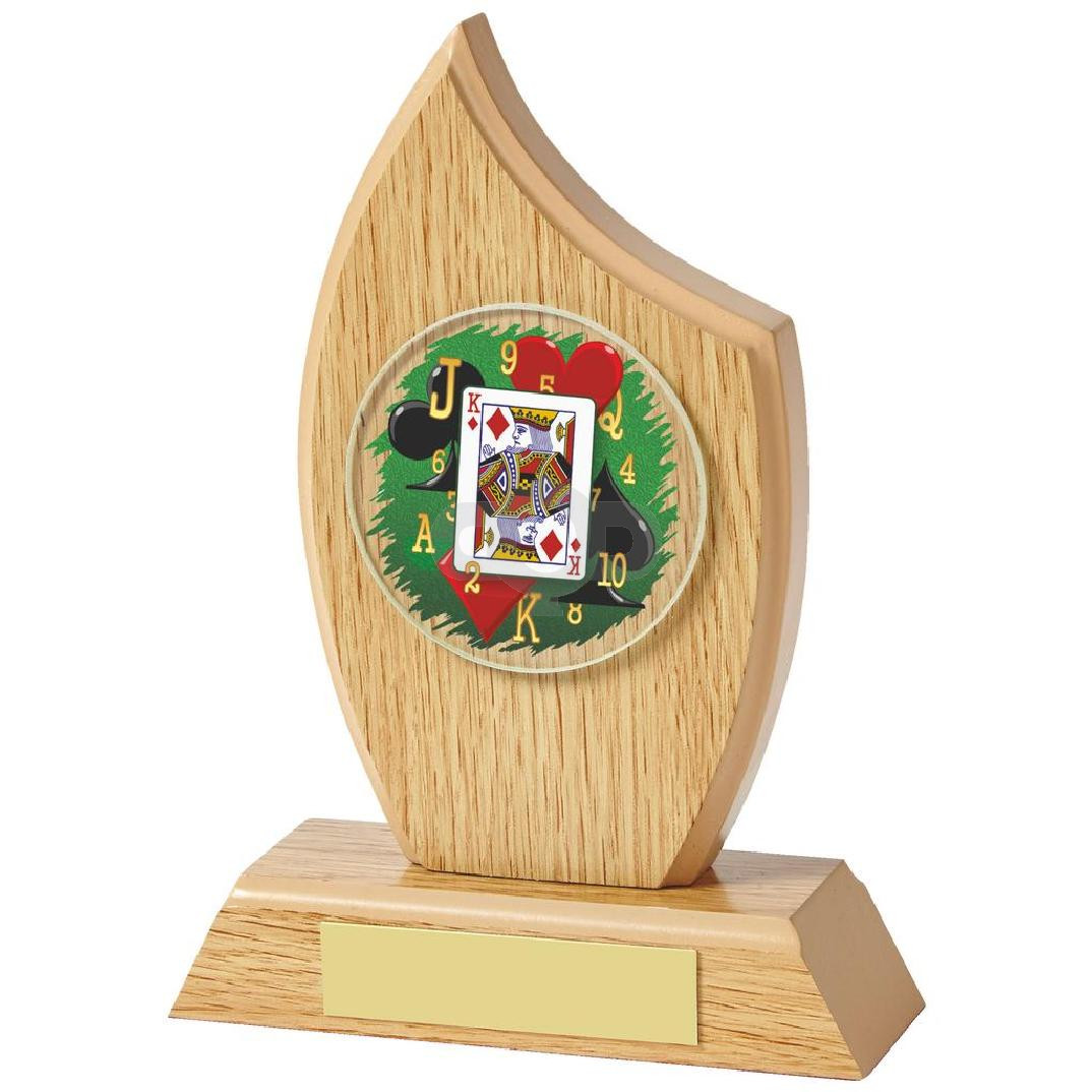 Light Oak Cards Sail Wood Plaque
