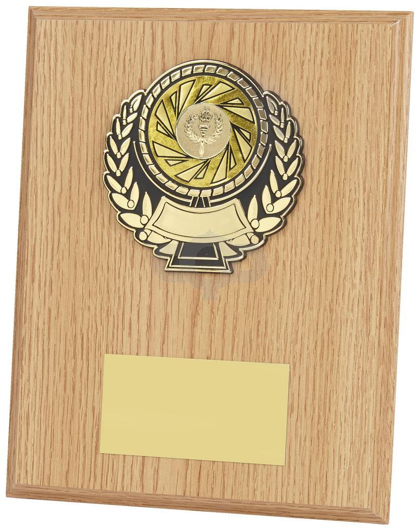 Light Wood Effect Plaque Award
