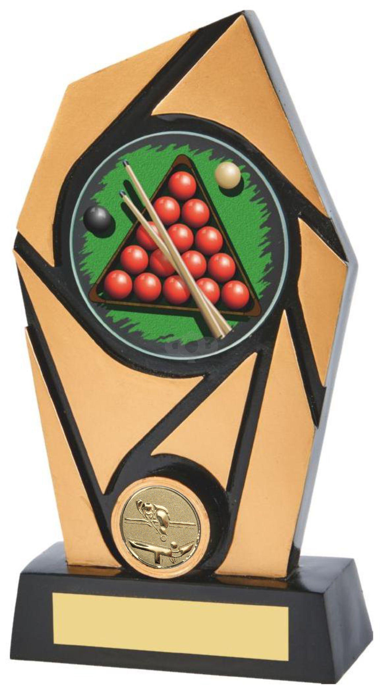 Gold & Black Resin Snooker Award