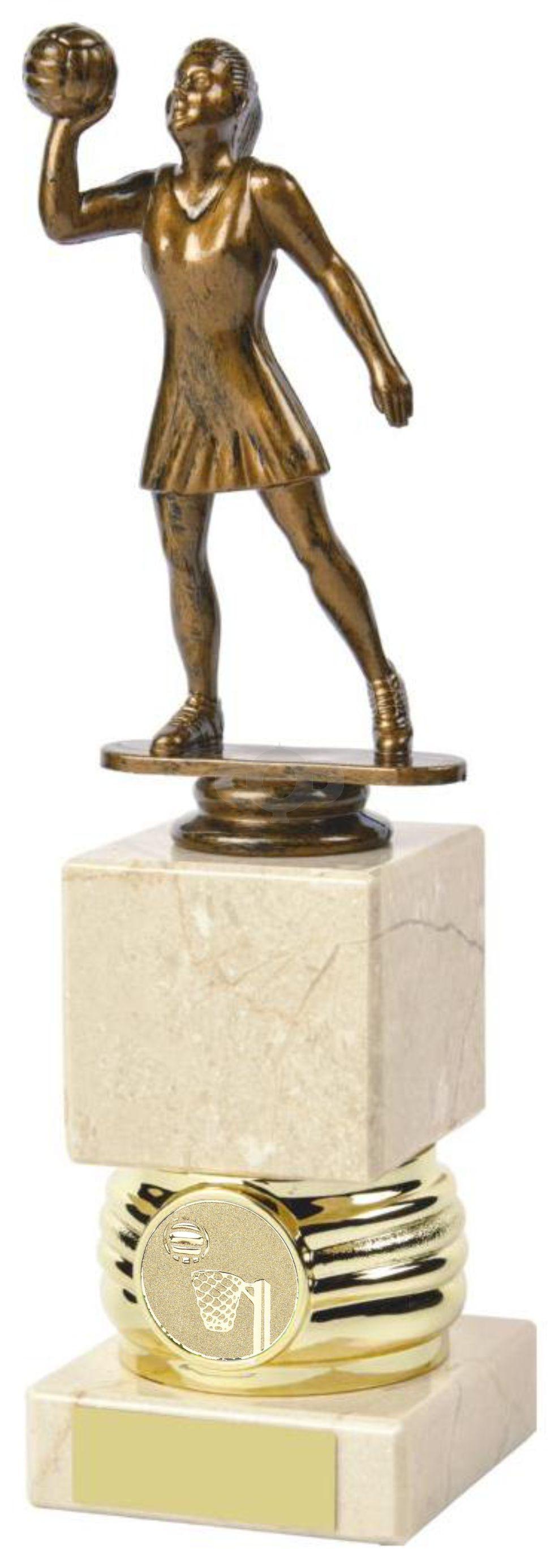 Antique Gold Hockey Awards mounted on Cream Marble