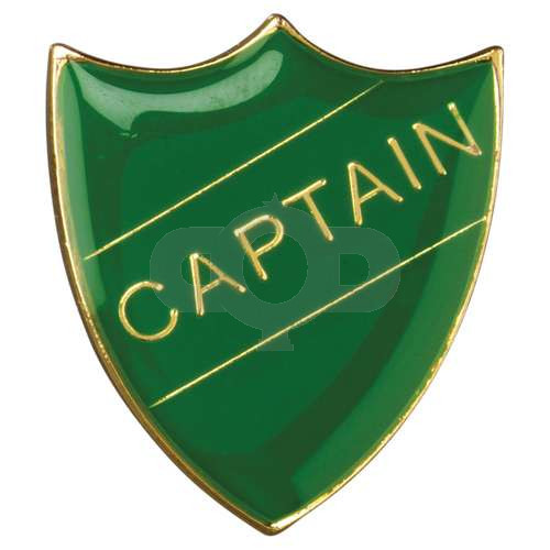 School Shield Badge Captain Green