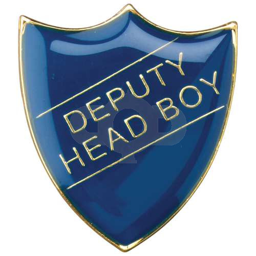 School Shield Badge Deputy Head Boy Blue